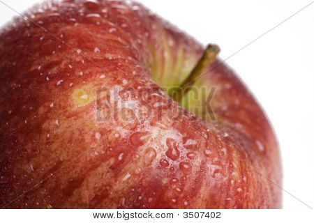 Close Up Of Vibrant Red Apple