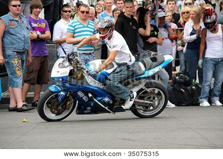 Bikers Meeting And Show On Kiev City Day
