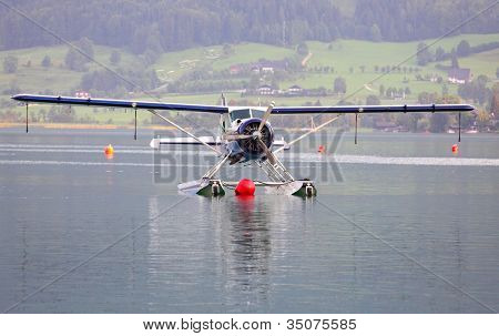 ST. WOLFGANG, AUSTRIA - JULY 7: The de Havilland Canada DHC-2 Beaver is a single-engined rescue plane. Rare warbird in Air Challenge on July 7, 2012 in St. Wolfgang.