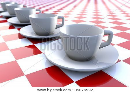 Row Of Cups