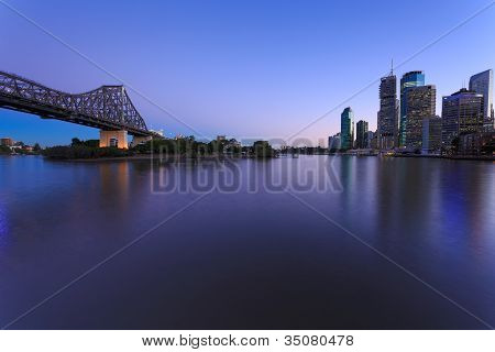 Brisbane At Twilight