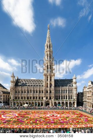 Brussels Grand Square With The Traditional Largest Flower Carpet Year 2008