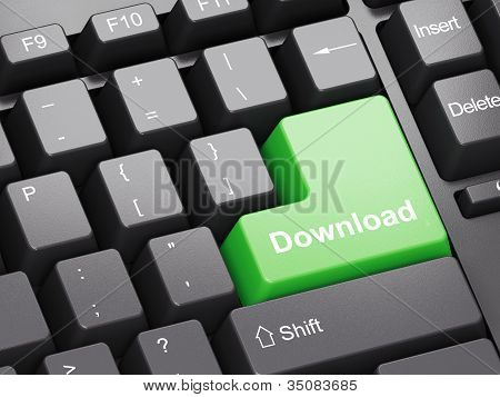 Black Keyboard With Downloadbutton