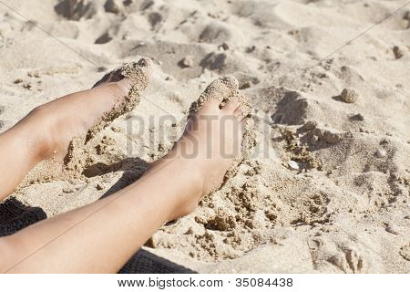 Thins Legs In The Sand