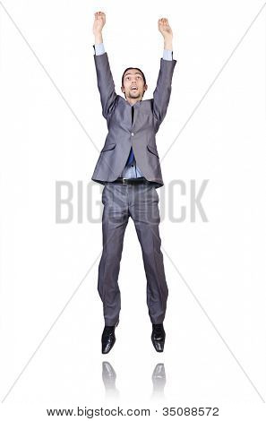 Businessman posing for conceptual photo