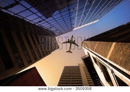 Vista de la ciudad urbana