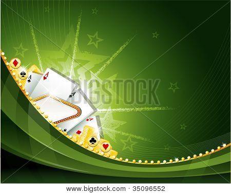 Casino gambling background elements