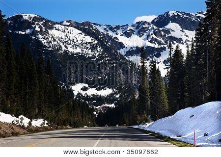 July Snow Mountain Washington Pass North Cascades National Park Pacific Northwest