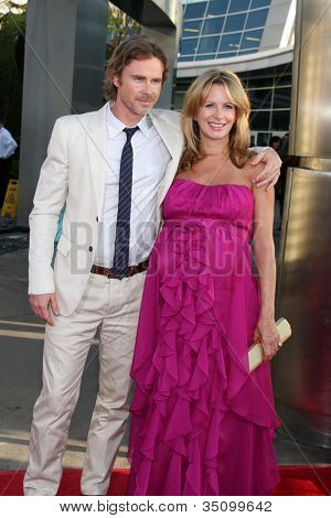 LOS ANGELES - JUN 21:  Sam Trammell, Missy Yager arriving at the True Blood Season 4 Premiere at ArcLight Theater on June 21, 2011 in Los Angeles, CA
