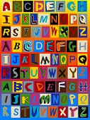 picture of alphabet letters  - This background includes 3 sets of alphabet letters - JPG