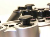 image of video game controller  - 2 game controllers  - JPG