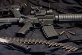 stock photo of m4  - modern weapon M4  - JPG