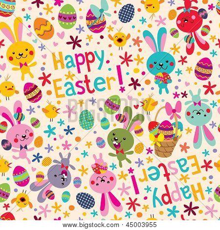 Happy Easter pattern