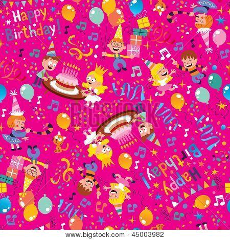 Happy Birthday party pattern
