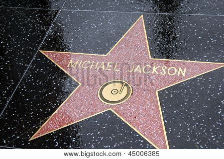 LOS ANGELES - APR 25: Michael Jackson's star in Hollywood shines brightly on April 25, 2013 in Los Angeles, California