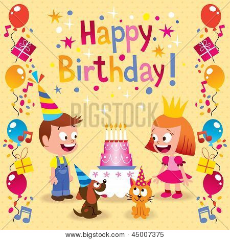 Happy Birthday kids card