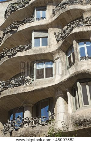 Casa Mila In Barcelona. Vertically.