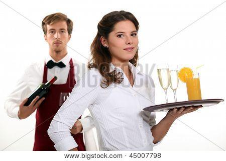 Trabalhadores do restaurante