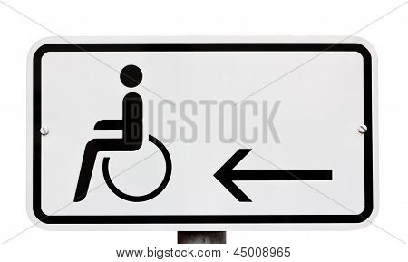Sign Indicating Provision For Disabled