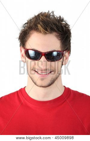 Cool dude in sunglasses