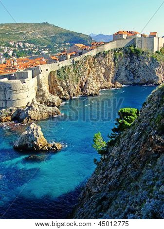Fort Bokar And Old Town Of Dubrovnik, Croatia