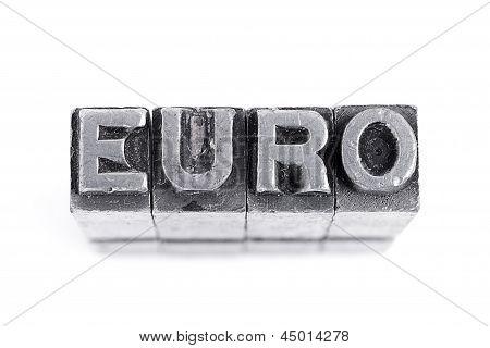 euro sign on white