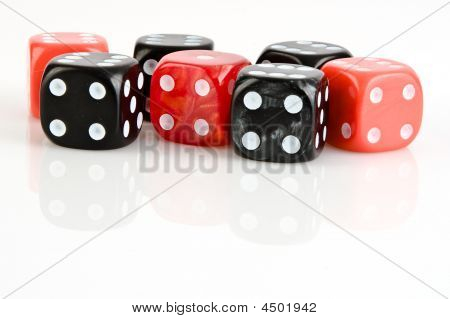 Black And Red Dices