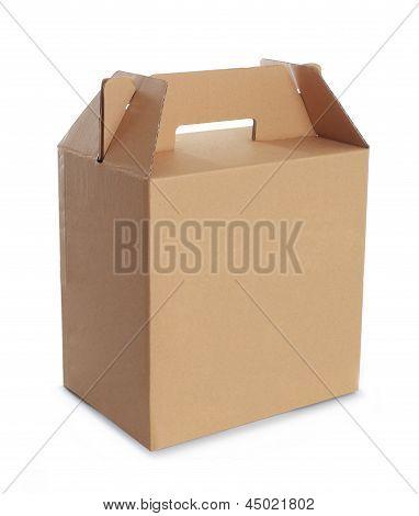 Cardboard Box With Handle