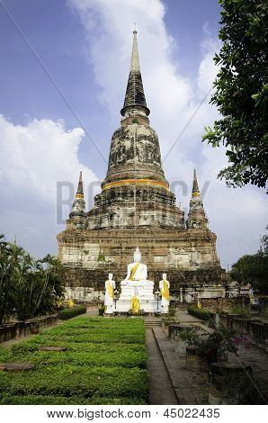 Ayutthaya- March 2: Wat Yai Chai Mongkhon Temple In,ayuthaya Province, Thailand