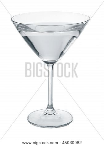 Martini Glass Filled With Liquid.