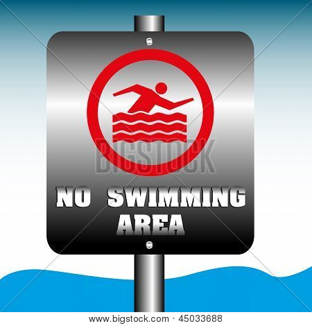 No swimming area