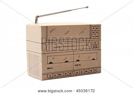 Photo of Cardboard Boom box
