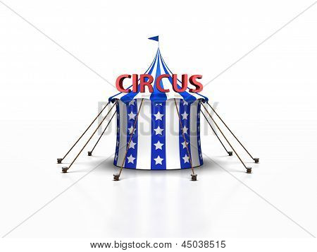 Circus Tent in blue