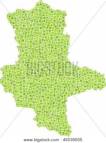 Map of Saxony Anhalt - Germany -