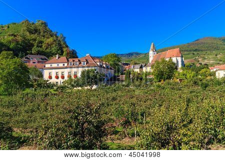Spitz Village In Famouse Wachau Valley, Austria