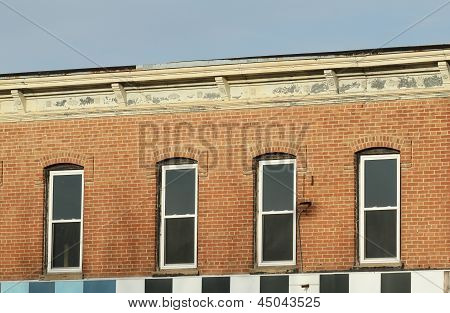 Detail of old downtown building