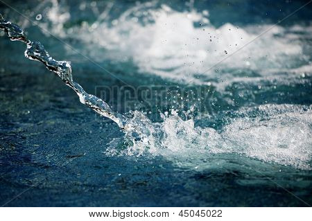 Splashes of water