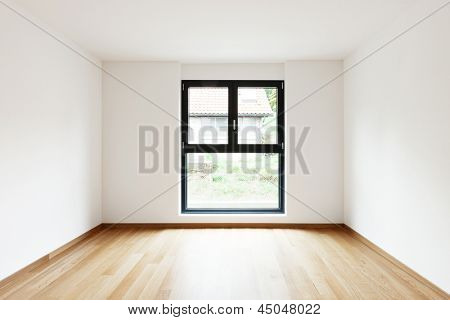 interior modern empty flat, apartment nobody inside