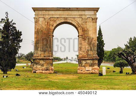 Triumphal Arch Of Bera In Tarragona, Spain.