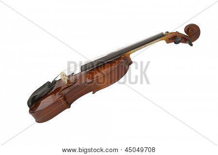 violin under the white background