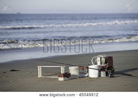 Fishermans equipment.