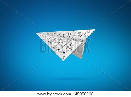Graph Paper plane