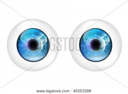 Vector eye balls isolated.