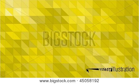 Yellow glossy background  from triangles with dark and bright parts