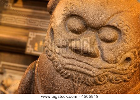 Temple Stong Carving -  Lion