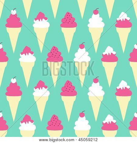 Ice Cream Cones Background