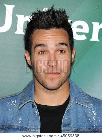 LOS ANGELES - APR 22:  Pete Wentz arrives to the NBC Universal Summer Press Day 2013  on April 22, 2013 in Pasadena, CA.