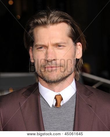 LOS ANGELES - APR 10:  Nikolaj Coster-Waldau arrives to the