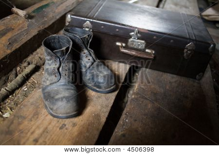 Old Shoes And Valise