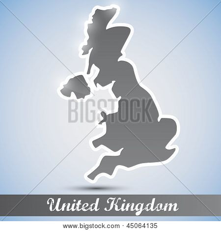 shiny icon in form of Great Britain
